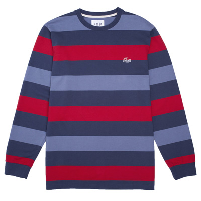 LASER Longsleeve Shirt BORNE navy/red/blue