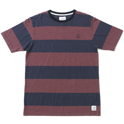 LASER T-Shirt BORNE heather navy/carmine