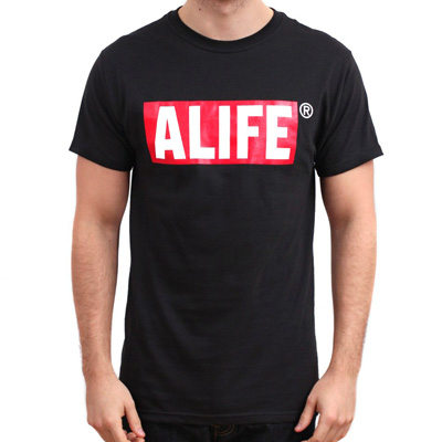 ALIFE NY T-Shirt BOX LOGO black