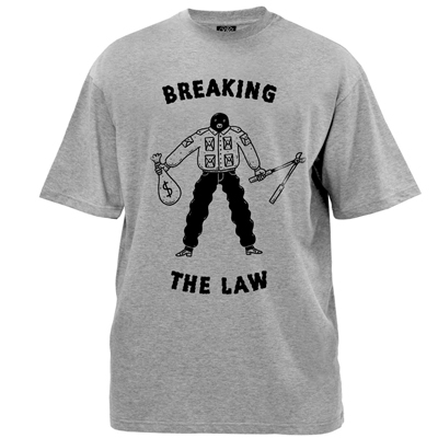 HYPERRAUM T-Shirt BREAKING THE LAW grey