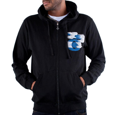 LRG Hooded Zipper BRENES black