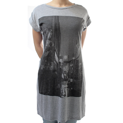 OBEY Girl Long Shirt BRICKLANE GIRL heather grey