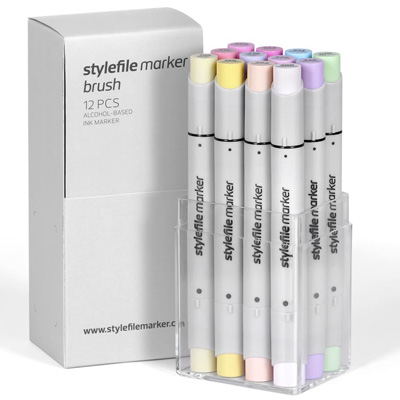 STYLEFILE Marker BRUSH 12er Set PASTEL