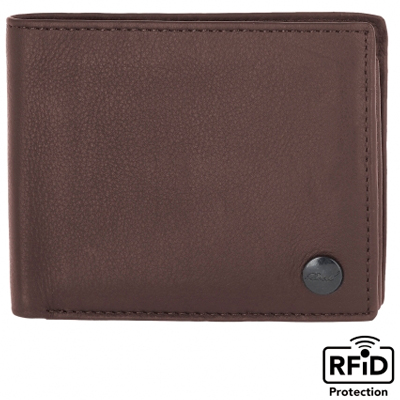 REELL Portemonnaie BUTTON WALLET brown
