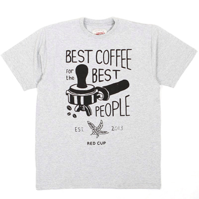 ANTEATER T-Shirt BEST COFFEE heather grey