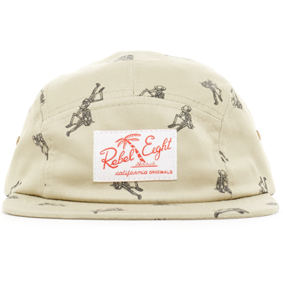 REBEL8 5Panel Cap PERMANENT VACATION beige