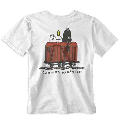 VANDALS ON HOLIDAYS T-Shirt CAMPING PARADISE white