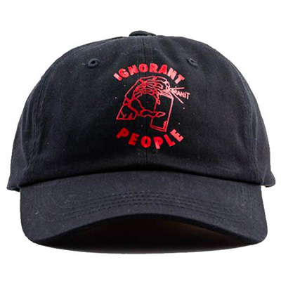 IGNORANT PEOPLE Baseball Cap GRANIT black/red