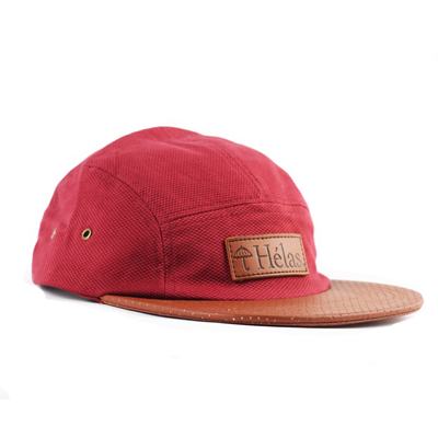 HELAS 5Panel Cap CAPONE burgundy/leather