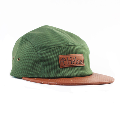 HELAS 5Panel Cap CAPONE green/leather
