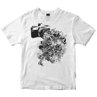DEPHECT T-Shirt CAPTURE white