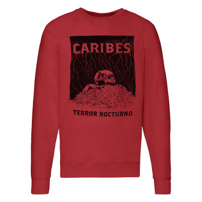 CARIBES Sweater TERROR NOCTURNO red