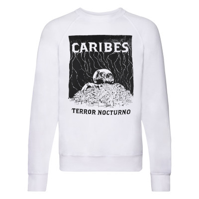 CARIBES Sweater TERROR NOCTURNO white