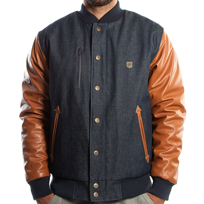 WRUNG College Jacke CARTER raw indigo