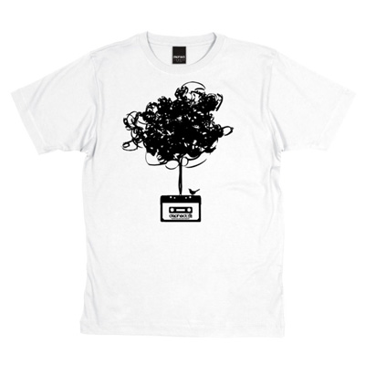 DEPHECT T-Shirt CASSETTE TREE white