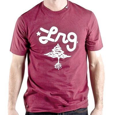LRG T-Shirt CC TWO maroon/white