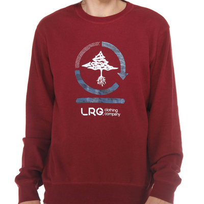LRG Sweater CC TWO maroon