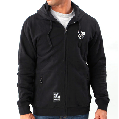 LRG Hooded Zipper CC FOUR black