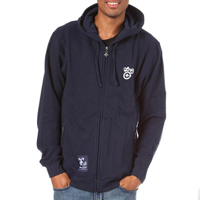 LRG Hooded Zipper CC FOUR navy
