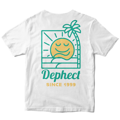 DEPHECT T-Shirt CHILLIN white