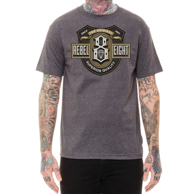 REBEL8 T-Shirt CIGARILLO heather charcoal