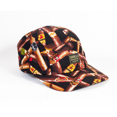 SKULLS 5Panel Cap CIGARS black/brown