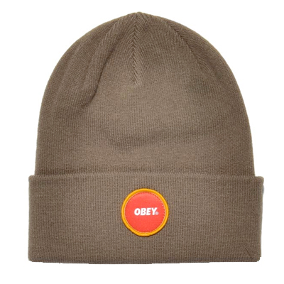 OBEY Beanie CIRCLE LOGO PATCH army