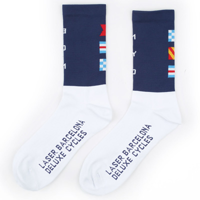 LASER Socks CITY FLAGS navy/white