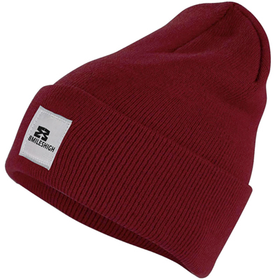 EIGHT MILES HIGH Beanie CLASSIC burgundy