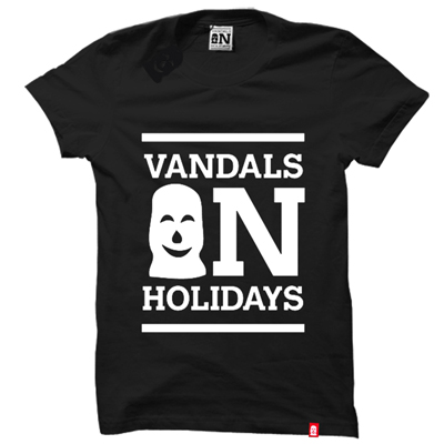 VANDALS ON HOLIDAYS T-Shirt CLASSIC LOGO black/white