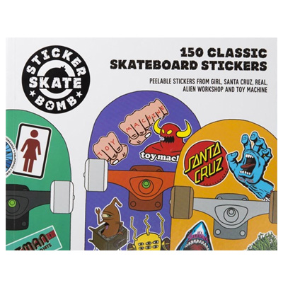 STICKER BOMB - Classic Skateboard Stickers Book