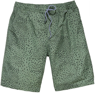 CLEPTOMANICX Shorts DRIFTER PATTERN oil green
