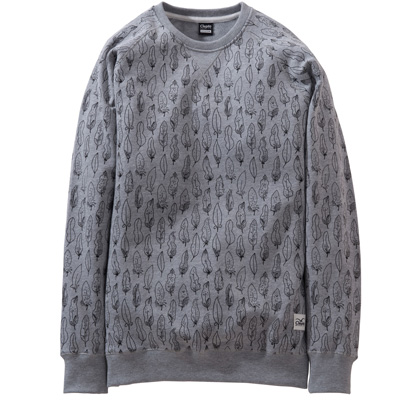 CLEPTOMANICX Sweater FEATHER heather grey