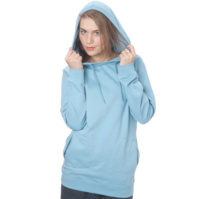 CLEPTOMANICX Girl Long Hoody LAYERICX heather pale blue