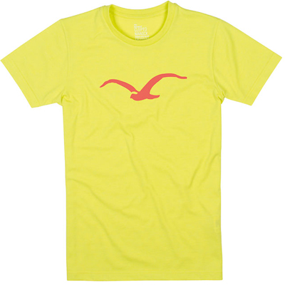 CLEPTOMANICX Girl Shirt MÖWE heather acid yellow