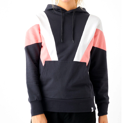CLEPTOMANICX Girl Hoody THIS phantom black/strawberry