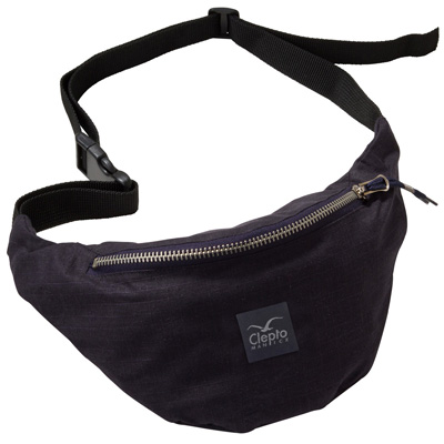 CLEPTOMANICX Hipbag HEMP 2 dark navy