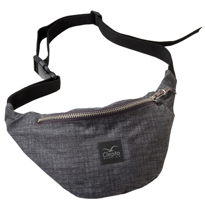CLEPTOMANICX Gürteltasche HEMP 2 hth. dark grey
