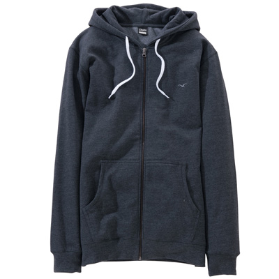 CLEPTOMANICX Hooded Zipper LIGULL II heather black