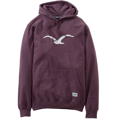 CLEPTOMANICX Hoody MÖWE heather tawny port