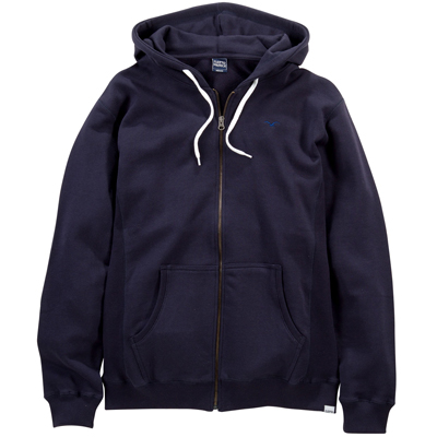 CLEPTOMANICX Hooded Zipper LIGULL dark navy