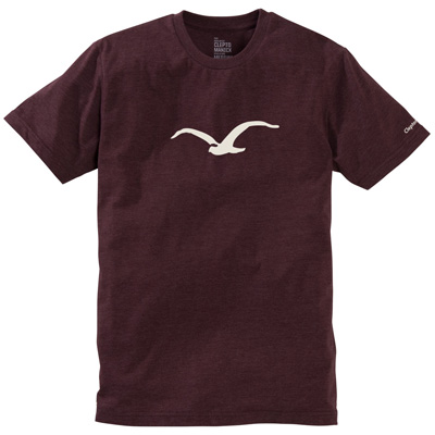 CLEPTOMANICX T-Shirt MÖWE heather tawny port/white