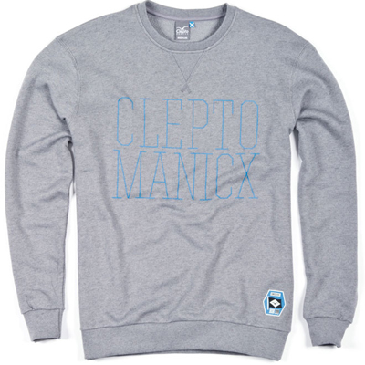 CLEPTOMANICX Sweater PORT CREW heather grey