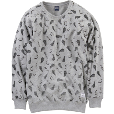 CLEPTOMANICX Sweater MELLOW heather grey