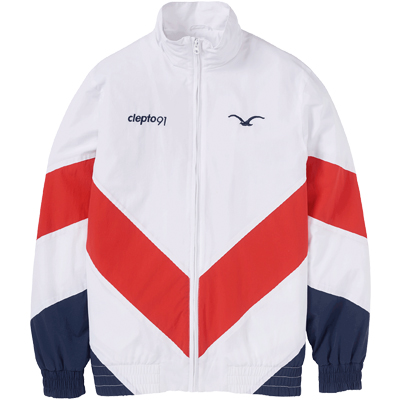 CLEPTOMANICX Trackjacket TRACK white/red/navy