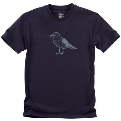 CLEPTOMANICX T-Shirt DRIFTER GULL dark navy