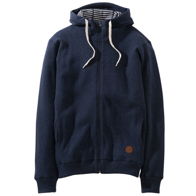 CLEPTOMANICX Hooded Zipper WOOZER 3 heather dark navy