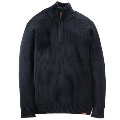 CLEPTOMANICX Knit Sweater ZIP-TROYER black