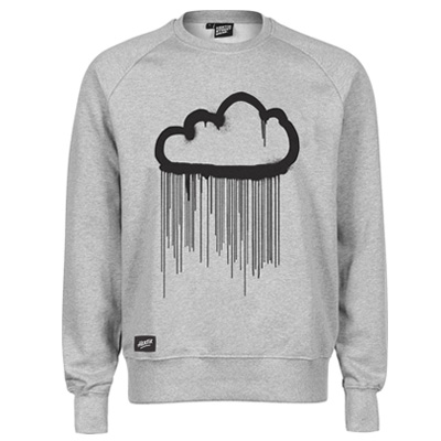 HEKTIK Sweater CLOUD heather grey/black