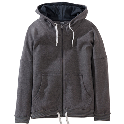 CLEPTOMANICX Girl Hooded Zipper COCOON STRIPE black
